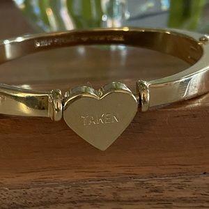 Kate spade heart bangle bracelet